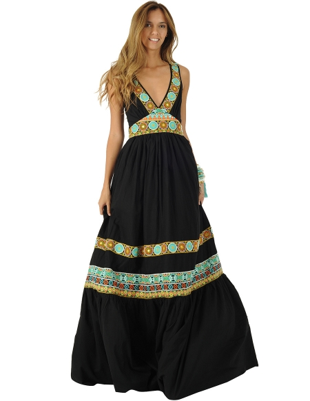 Picture of Hippie Chic Look, Devi Dress Black