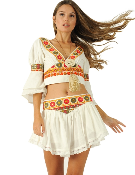 Picture of the Perfect Summer Skirts; Sarala Beige