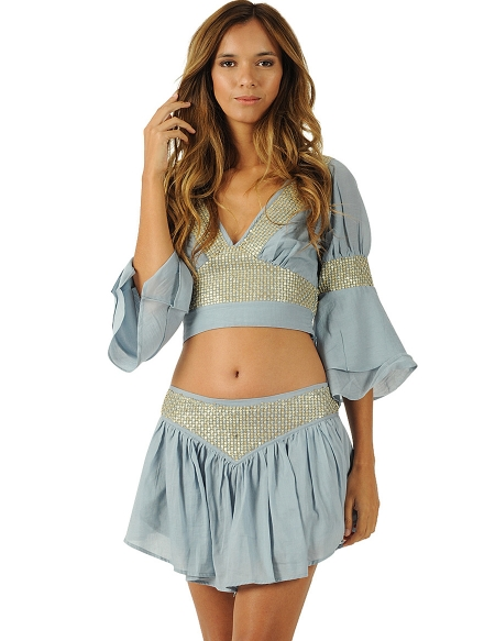 Picture of Trendy Mini Skirts; Naya Blue