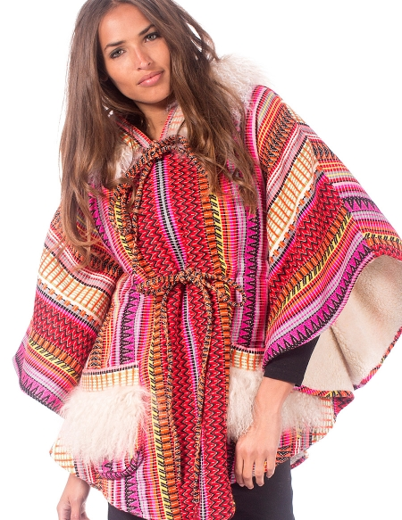 PONCHO NOMADE MULTICOLOR