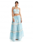 Picture Of Hippie Skirts; Capri Blue