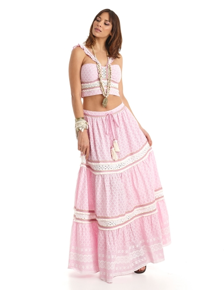 Picture of Hippie Skirts; Capri Pink