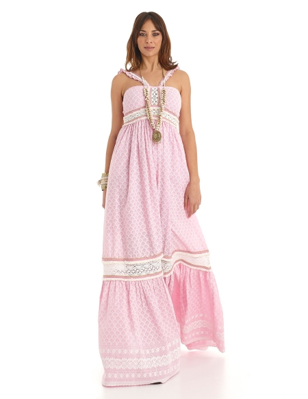 Picture of Boho Style Dress, Palawan Pink