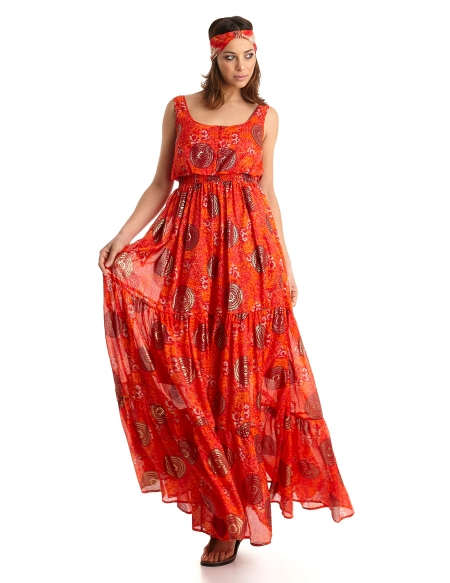 Picture of Summer News; Eleuthera Dress Orange