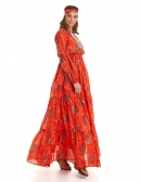 Picture of Ibiza Fashion; Paradise Dress Orange