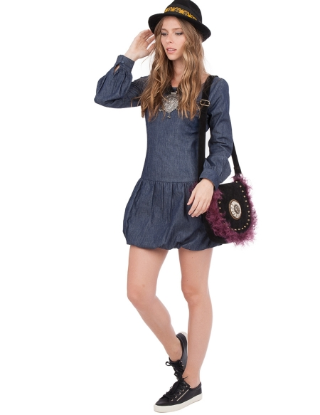 Picture of the Woman Denim Dress, Cheyenne Blue